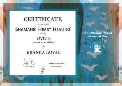 Certificate - Level 2 - Branka Kovac - 2016-1
